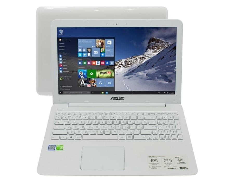 Белый ноутбук Asus