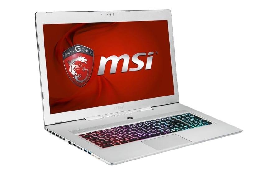 Белый ноутбук MSI