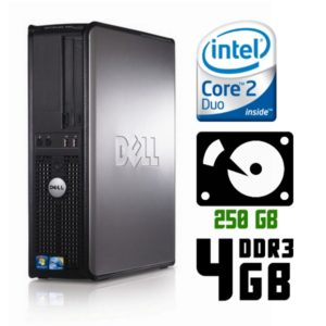 Игровой компьютер б/у Dell OptiPlex 780 SFF, Slim/2 ядра, DDR3-4Gb, HDD-250 Gb
