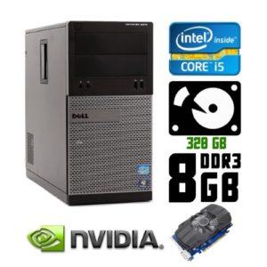 Игровой компьютер б/у Dell OptiPlex 3010, Core i5, DDR3-8Gb, GeForce GTX 1050 Ti GDDR5