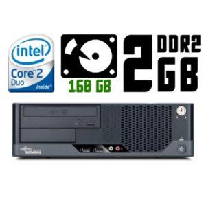 Компьютер б/у Fujitsu Esprimo E5730 SFF, Slim/Тонкий корпус, 2 ядра, RAM-2 Gb, HDD-160 Gb