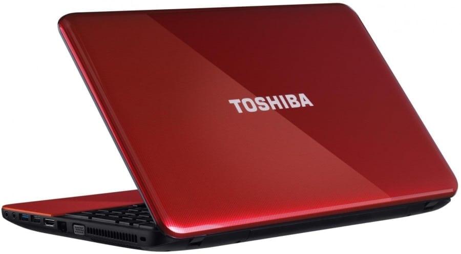 Красный ноутбук Тошиба