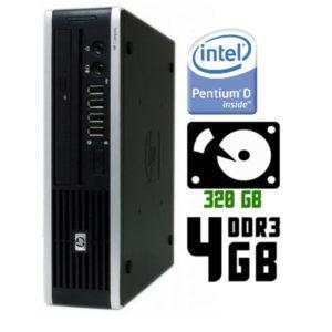 Компьютер б/у HP Compaq 8300, Ultra Slim корпус, 2 Ядра, DDR3-4Gb, HDD-320Gb