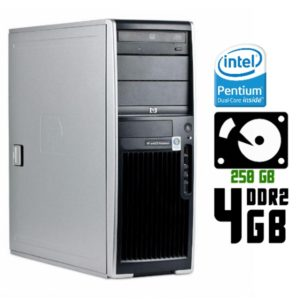 Компьютер б/у HP xw4600 Workstation, ATX корпус, 2 ядра, RAM-4Gb, HDD-250Gb