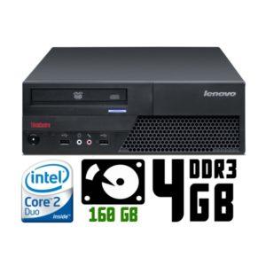 Компьютер б/у Lenovo ThinkCentre M58p, Slim корпус, 2 ядра, DDR3-4Gb, HDD-160Gb