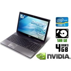 Игровой ноутбук б/у Acer Aspire 5741G, Экран 15.6, Core i5, DDR3-4Gb, GeForce GT320M