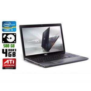 Игровой ноутбук б/у Acer Aspire 5820T, Экран 15.6, Core i5, DDR3-4Gb, Radeon HD5650