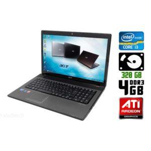 Игровой ноутбук б/у Acer Aspire 7741G, Экран 17.3, Core i3, DDR3-4Gb, Radeon HD5650M