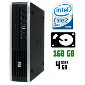 Мини-компьютер б/у HP 8000 Elite, Ultra Slim корпус, 2 ядра, DDR3-4Gb, HDD-160Gb