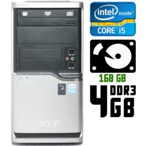 Компьютер б/у Acer Power F5, Core i5, 4 ядра, DDR3-4Gb, HDD-160 Gb