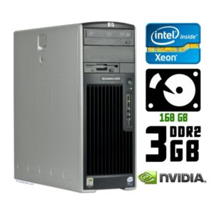 Компьютер б/у HP xw6400 Workstation, 2 ядра, RAM-3Gb, HDD-160Gb