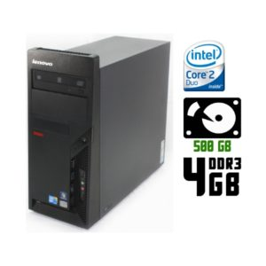 Компьютер б/у Lenovo ThinkCentre M57, 2 ядра-E8400, DDR3-4Gb, HDD-250Gb