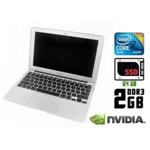 Ноутбук б/у Apple MacBook Air A1370, Экран 11.6, 2 Ядра, DDR3-2ГБ, SSD-64Гб, Веб-камера