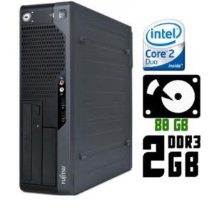 Компьютер б/у Fujitsu Esprimo E5731, Slim корпус, 2 ядра, DDR3-2Gb, HDD-80Gb