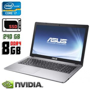 Игровой ноутбук б/у Asus X550V, Экран 15.6, Core i7 7700HQ, DDR4-8Gb, SSD-240Gb, GTX-950M