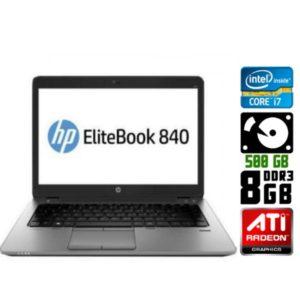 Игровой Ultrabook б/у HP EliteBook 840 G1, Экран 14.1, Core i7 4700U, DDR3-8Gb, HDD500, Веб-камера