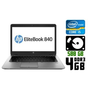 Ultrabook б/у HP EliteBook 840 G1, Экран 14.1, Core i5 4300U, DDR3-4Gb, HDD500, Веб-камера
