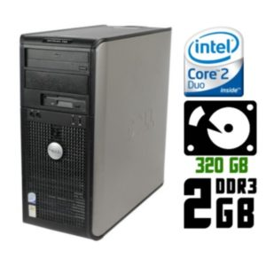 Компьютер б/у Dell OptiPlex 780, 2 ядра, DDR3-2Gb, HDD-320 Gb