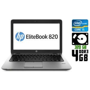 Ноутбук б/у HP EliteBook 820 G1, Экран 12.5, Core i5, DDR3-4 Gb, HDD-320 Gb, Веб-камера