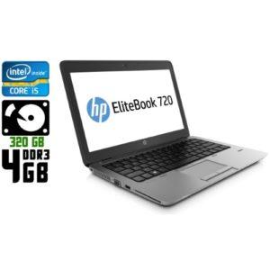 Ноутбук б/у HP EliteBook 720 G1, Экран 12.5, Core i5, DDR3-4 Gb, HDD-320 Gb, Веб-камера