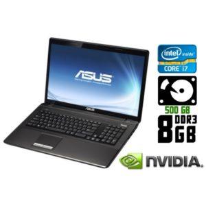 Игровой ноутбук б/у Asus K93S, Экран 18.4, Core i7, DDR3-8Gb, HDD-500Gb, Веб-камера
