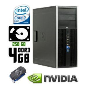 Игровой компьютер б/у HP Compaq 8000 Elite, 2 ядра, DDR3-4Gb, HDD-250Gb, GTX 650 GDDR5