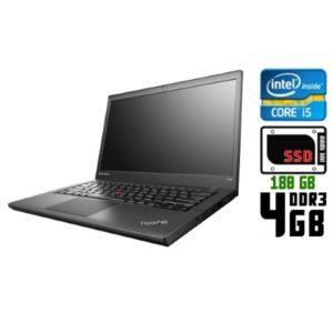 Ноутбук б/у Lenovo ThinkPad T440, Экран 14.1, Core i5 4300U, DDR3-4Gb, SSD-180Gb, Веб-камера
