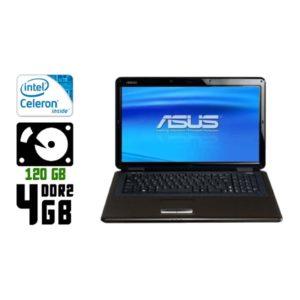 Ноутбук б/у Asus K70IJ, Экран 17.3, 2 Ядра, DDR2-4 Gb, HDD-120 Gb, HDMI, Веб-камера