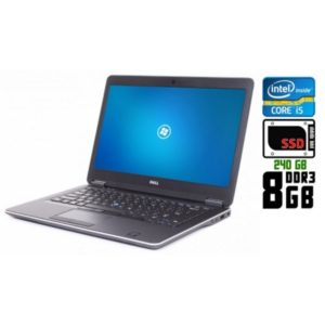 Ноутбук б/у Dell Latitude E7440, Экран 13.3, Core i5 4200U, DDR3-8Gb, SSD, Веб-камера