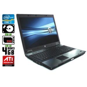 Игровой ноутбук б/у HP EliteBook 8740w, Экран 17.3, Core i7, DDR3-4 Gb, SSD-120 Gb, Веб-камера