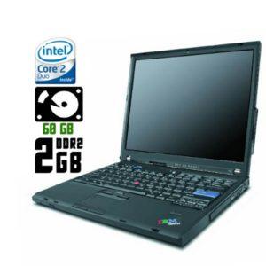 Ноутбук б/у Lenovo ThinkPad T60, Экран 14, 2 Ядра, DDR2-2Gb, HDD-60Gb