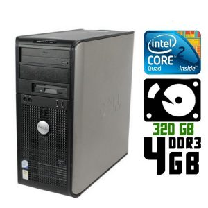 Компьютер б/у Dell OptiPlex 780, 2 ядра, DDR3-4Gb, HDD-320 Gb