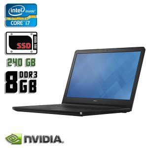 Игровой ноутбук б/у Dell Inspiron 15 5559, Экран 15.6, Core i7, DDR3-8Gb, SSD-240Gb, Веб-Камера