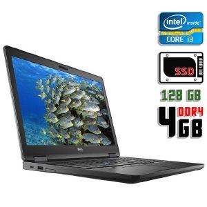 Ноутбук б/у Dell Latitude E5580, Экран 15.6, Core i3 7100u, DDR4-4 Gb, SSD-128 Gb, Веб-камера