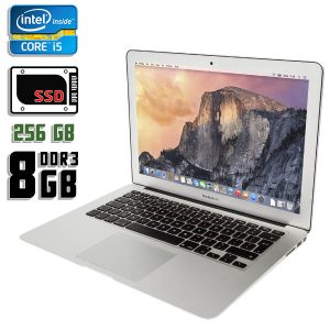 Ноутбук б/у Apple MacBook Air MJVE2, Экран 13.3, Core i5 5250U, DDR3-8ГБ, SSD-256Гб, Веб-камера