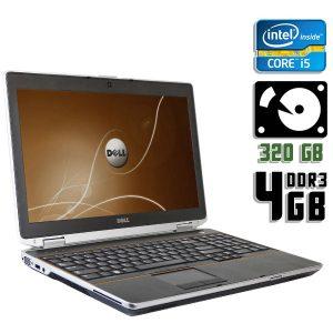 Ноутбук б/у Dell Latitude Е6520, Экран 15.6, Core i5 2520M, DDR3-4 Gb, HDD-320 GB, Веб-камера