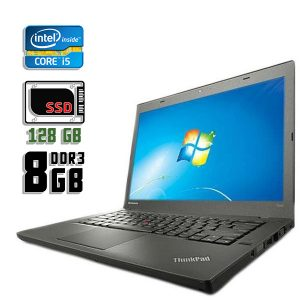 Ноутбук б/у Lenovo ThinkPad T440, Экран 14.1, Core i5 4200M, DDR3-8Gb, SSD-128Gb, Вебкамера