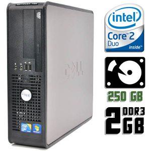 Компьютер б/у Dell OptiPlex 780SFF, 2 ядра, DDR3-2Gb, HDD-250Gb