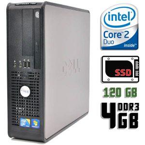 Компьютер б/у Dell OptiPlex 780SFF, 2 ядра, DDR3-4Gb, SSD-120Gb