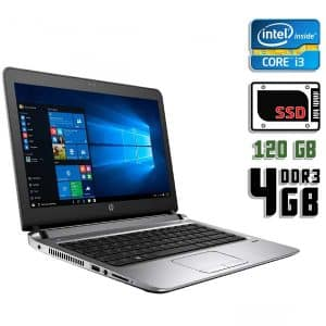 Ноутбук б/у HP Probook 430 G3, Экран 13.3, Core i3 6100U, DDR3-4Gb, SSD-120Gb, Веб-камера, Сенсорный