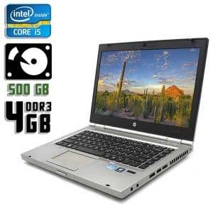 Ноутбук б/у HP EliteBook 8460p, Экран 14, Core i5 2410M, DDR3-4Gb, HDD-500Gb, Веб-камера
