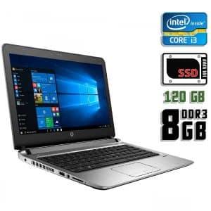 Ноутбук б/у HP Probook 430 G3, Экран 13.3, Core i3 5010U, DDR3-8Gb, SSD-120Gb, Веб-камера