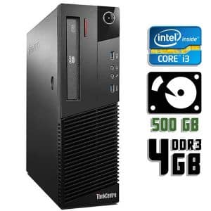 Компьютер б/у Lenovo ThinkCentre M83 SFF, Core i3 4150, DDR3-4Gb, HDD-500Gb