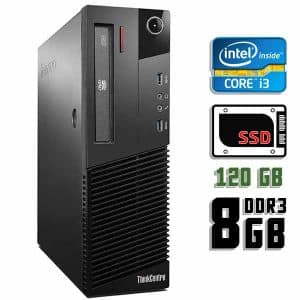 Компьютер б/у Lenovo ThinkCentre M83 SFF, Core i3 4150, DDR3-8Gb, SSD-120Gb