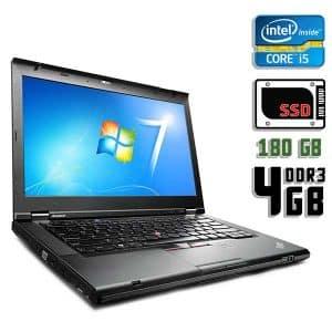 Ноутбук б/у Lenovo ThinkPad T430, Экран 14, Core i5 3320M, DDR3-4Gb, SSD-180Gb, Веб-камера