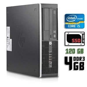 Компьютер б/у HP Compaq 8200 Elite SFF, Core i5 2400, DDR3-4Gb, SSD-120Gb