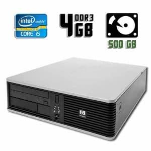 Компьютер б/у HP Compaq DC5800 SFF, Core i5 2400, DDR3-4Gb, HDD-500Gb