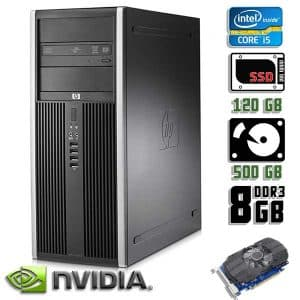 Игровой компьютер б/у HP Compaq 8200 Elite, Core i5 2400, DDR3-8Gb, SSD+HDD, GeForce GTX 750 Ti