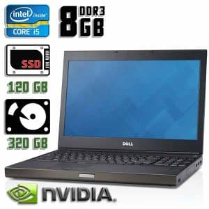 Игровой ноутбук б/у Dell Precision M4800, Экран 15.6, Core i5 4200M, DDR3-8 Gb, SSD+HDD, Nvidia