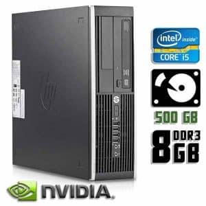 Компьютер б/у HP Compaq 8200 Elite SFF, Core i5 2400, GT710, DDR3-8Gb, HDD-500Gb